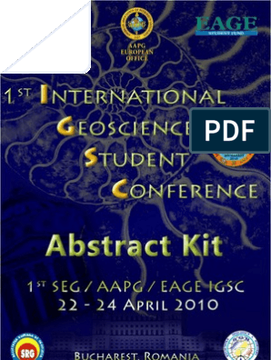 1st International Geosciences Student Conferince 2010 - Abstract Kit