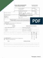 Anne E Thompson Financial Disclosure Report for 2009