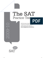 Official SAT® Practice Test 2009-2010