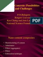 Nano Concrete - Possibilities & Challenges