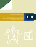Good Practices in Gender Mainstreaming Towards Effective Gender Training