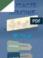 Mutacje genowe