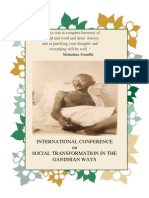 International Conference on Social Transformation in the Gandhian Ways