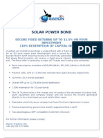 Solar Power Bond With Secure Fixed Returns 11.5%