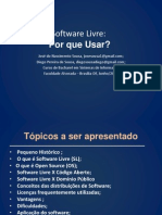 Software Livre Por Que Usar? - Slide