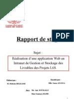 Rapport de Stage Mohcine Belkasse