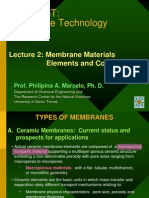 Lecture 2 - Membrane Materials, Elements and Configurations