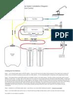 RO Installation Diagram Flow Control