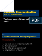 Business Communication - Unit 1 - Importance of Communication Skills - p