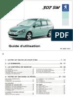 Guide Utilisation - Peugeot 307 SW - 2004