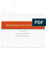Business and Current Affairs Quiz With Answers