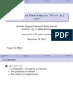 Rabin Miller Primality Test