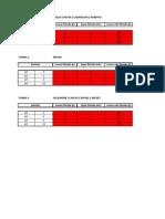 Tabela de FLOTACAO