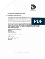 Mayor Mike Rawlings's Letter to USPS