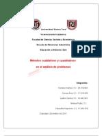 Compendio de 5 métodos cualitativos y cuantitativos de análisis de problemas