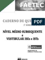 Prova Faetec Nvel Medio Subseqente e Vestibular Iseseists Prova de a 2semestre 2011 Demo 110812200551 Phpapp02