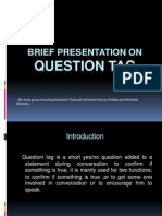 Brief Presentation on Question Tag