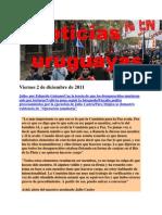 Noticias Uruguayas Viernes 2 de Diciembre de 2011