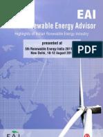 India Renewable Energy Advisor Aug 2011