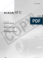 Canon HF11 Instruction Manual (English)