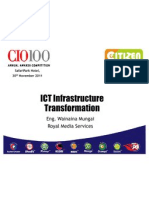 CIO100 2011 - ICT Infrastructure Transformation - Eng. Wainaina Mungai - Royal Media Services