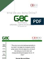 GBC CIO100 Presentation
