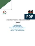 GUMS - Francis Mwaura