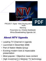 CIO 100 2011 - Digital Video routing with Stereo Analog Audio - Charles Ssebbasie - Africa Broadcasting (NTV) Uganda