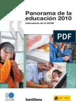 Panorama de la educación 2010