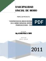 Perfil de Const. Del Area Recreacional en El Barrio Capajocha Moho