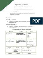 Exponentes y potencias