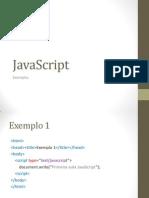Exemplos Javascript