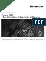 Guia de Instalação e Substituição de Hardware Lenovo 3000