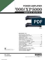 Yamaha Xp7000 5000 Power Amplifier Service Manual