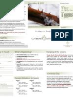 Covenant Baptust Church Bulletin, December 4, 2011