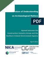 Memorandum of  Understanding between CIG and NIEA - 19 April 2011
