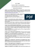 Codigo de la niñez y la adolescencia Ley N° 1680-01