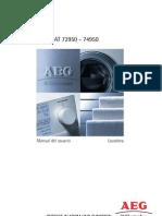 Manual Lavadora Aeg