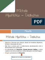Ana Sequeira - Método hipotético - dedutivo