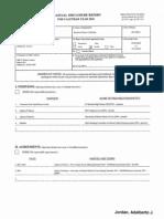 Adalberto J Jordan Financial Disclosure Report for 2010