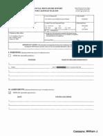 William J Castagna Financial Disclosure Report for 2010