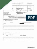 Thomas C Platt Financial Disclosure Report for 2010