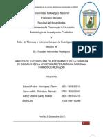 Estudio sobre Hábitos de Estudio en estudiantes de Ciencias Sociales de la UPNFM Honduras 2011