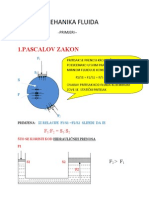 Mehanika fluida- primjeri