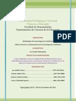 Informe final Estudio sobre las Características de los Dirigentes Estudiantiles en la UPNFM