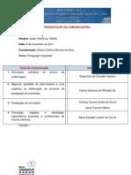 Programacao de Comunicacoes e Posteres VIII Coloquio 2011