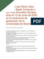 Discurso Que Steve Jobs