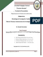 Informe Final Investigación Cualitativa sobre la Reprobación en Química General II en la UPNFM Honduras 2011