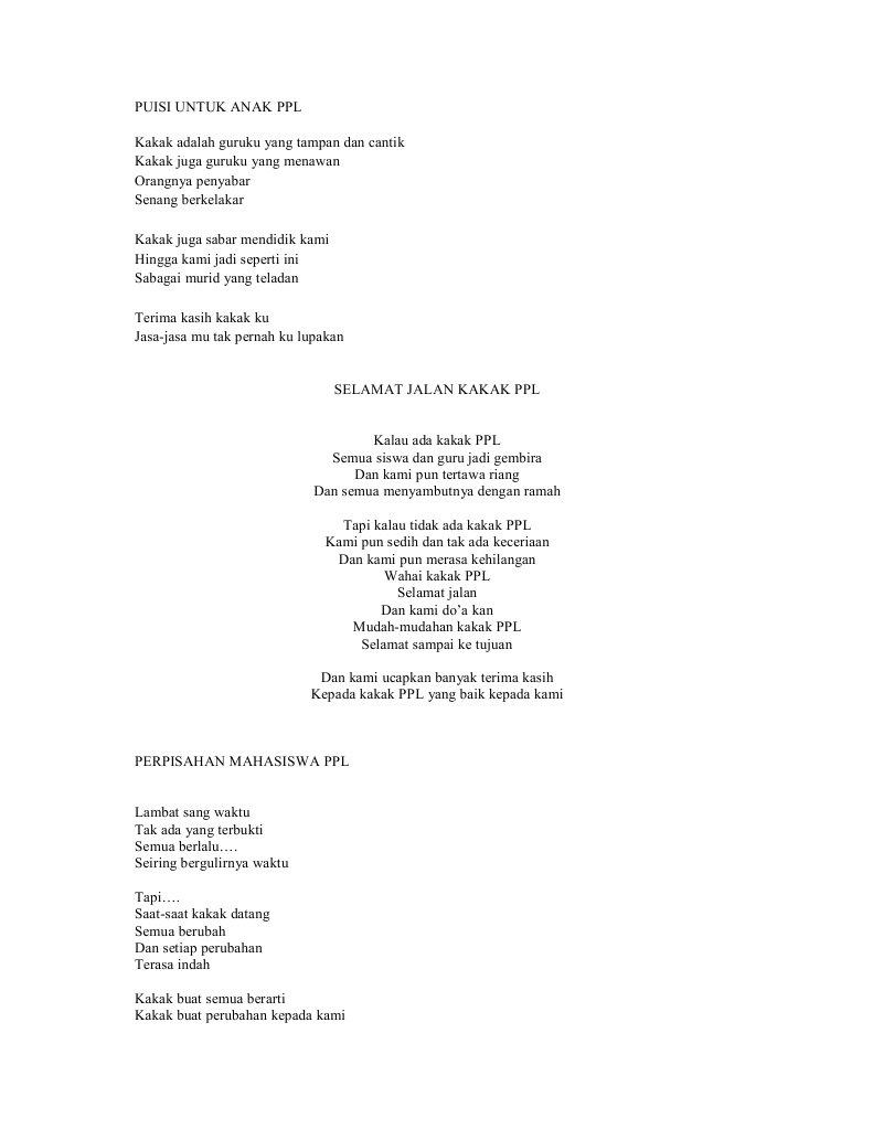 Puisi Perpisahan Untuk Ibu Guru Tercinta Brad Erva Doce Info