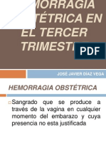 HEMORRAGIA OBSTÉTRICA EN EL TERCER TRIMESTRE